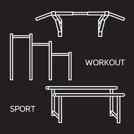 sports bar: Sports equipment for street workout and pull-up bar. Vector