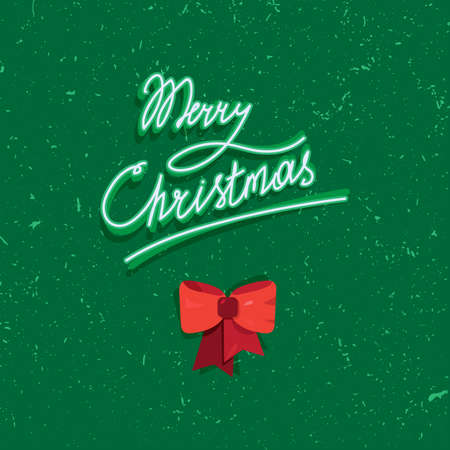 christmas christmas christmas: Hand written lettering of Merry Christmas text for greeting card in grunge and vintage style. Vector