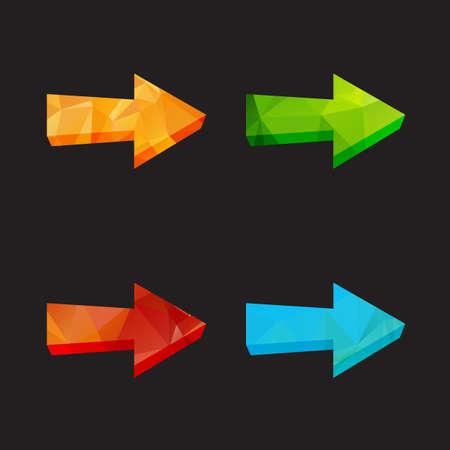 undo: Isolated triangle polygonal arrows set, undo and previous buttons. Vector