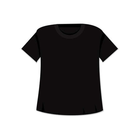 tshirt template: T-shirt template. Isolated sport singlet mockup. Vector