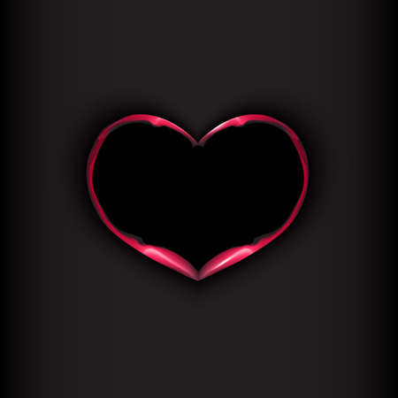 fire heart: Fire heart on black background. Valentines day concept. Vector