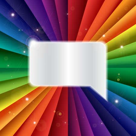 chromatic: Bright vector rainbow celebration holiday banner, vector background Illustration