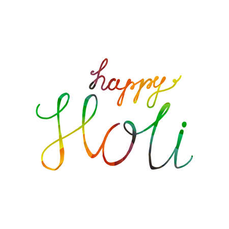 pichkari: Indian Festival of Colours design for banner, print, poster and card. Happy Holi celebration calligraphy. Vector