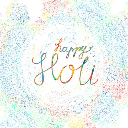 panchami: Indian Festival of Colours design for banner, print, poster and card. Happy Holi celebration calligraphy. Vector