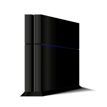 Konsola do gier dla graczy i gier, obudowy komputera, jednostki systemowej Ilustracje wektorowe