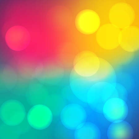 spot lit: Bokeh soft blurry background with light.  Dreamy party mood effect. Vector