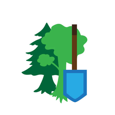 nature protection: Environment Protection Sticker. Ecology and nature protection icon. Vector Illustration