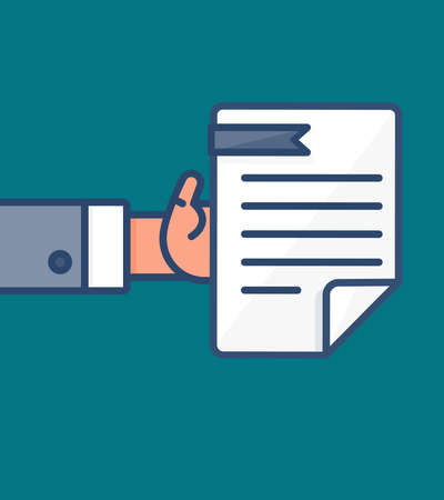 salaries: The process of payment. Rent, salary costs. Wages and income. The receipt of money. Icon contract and payment. The conclusion of the contract. The pay button. Vector Illustration