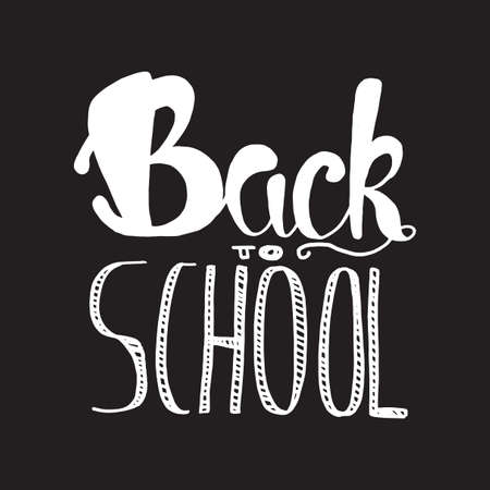 Vintage Back To School Lettering Banner. Knowledge day poster. Vector Illustration