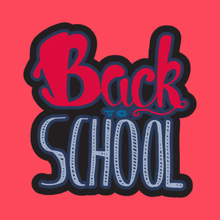 back cloth: Vintage Back To School Lettering Banner. Knowledge day greeting card for print, t-shirt, badge, cloth, poster. Vector