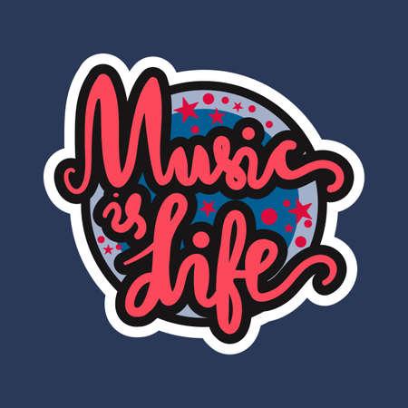 Vintage World Music Day Lettering for Banner and Badge. Sticker, Poster, Card Design Template. Vector Illustration