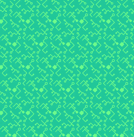 gpu: Computer Processor Chip Seamless Pattern for print, cloth, fabric and wrap. High tech wallpaper and background. Computer ornament. Innovation backdrop. Vector