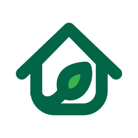 Eco House Template. Ecology symbol. Nature ecology logotype. Green eco logo. Vector design ecology elements