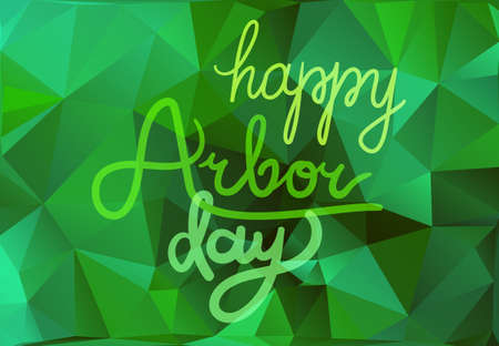 Save Our Planet Concept. Arbor Day Greeting for sticker, banner and flyer. Vector Illustration