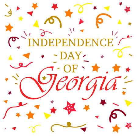 Independence Day of Georgia Celebration Banner. Vector Illustration