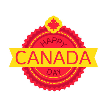nationalism: Happy Canada Day Celebration Banner. 1st Jule Holiday. Vector