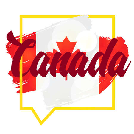 first day: Happy Canada Day Celebration Banner. 1st Jule Holiday. Vector