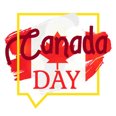 first nations: Happy Canada Day Celebration Banner. 1st Jule Holiday. Vector