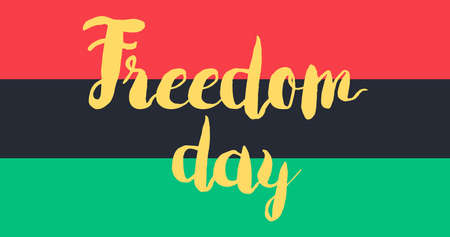 Freedom Banner With Flag For 19 June. Vector