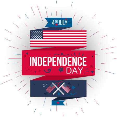 4th of july usa independence day celebration banner national national american greeting vector m4hsunfo