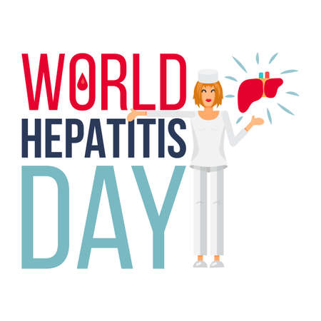 contagious: World Hepatitis Day Banner For 28th Of July. Vector