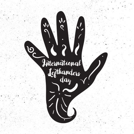 lefthand: International Lefthanders Day Illustration