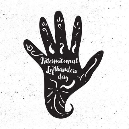 International Lefthanders Day Illustration