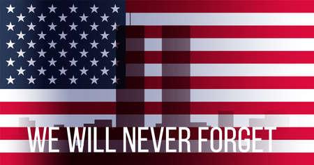 Bannière Patriot Day. Vecteurs