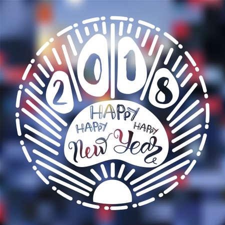 Happy New 2018 year lettering. Stock fotó - 88438540