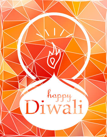 Bright Stylish Colorful Happy Diwali Celebration Banner with Fire. Vector
