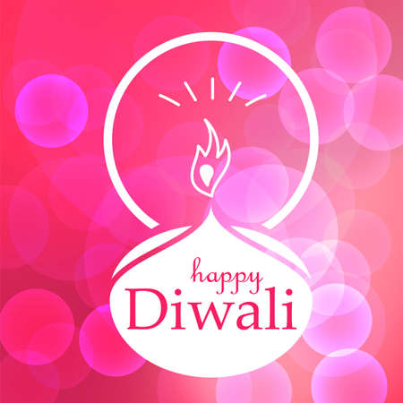 Bright Stylish Colorful Happy Diwali Celebration Banner with Fire.