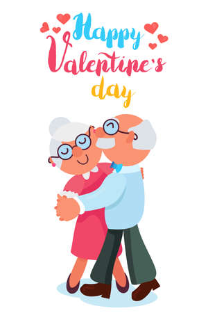 Happy Valentines Day with old couple