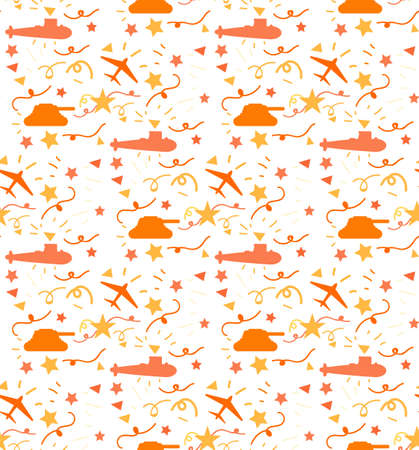 A Background of the patriots day. Military ornament. Victory Day Seamless Pattern. Vector