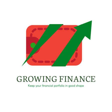 E-banking flat gradient icon Illustration