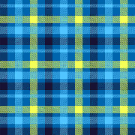 Tartan color seamless vector pattern. Plaid fabric texture. Red, blue checkered textile background