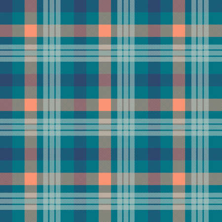 Tartan color seamless vector pattern. Fabric texture. Flannel, plaid checkered textile background