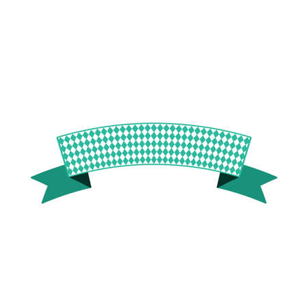 Ribbon banner for text cartoon color illustration. Festival decoration. Isolated vector design element 向量圖像