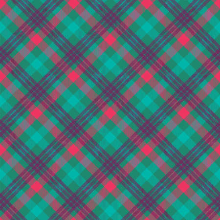 Plaid color seamless vector pattern