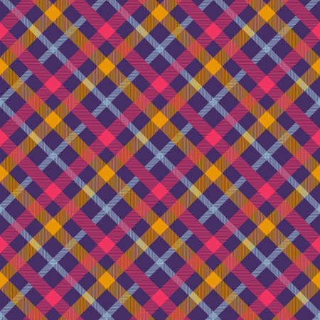 Flannel color seamless vector pattern Illustration