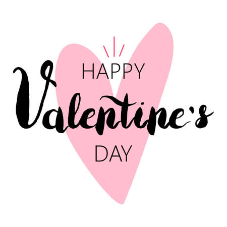 Happy Valentine's Day stylized greeting card template Illustration