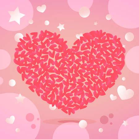 Nice Stylish Valentines Day Illustration Ilustração