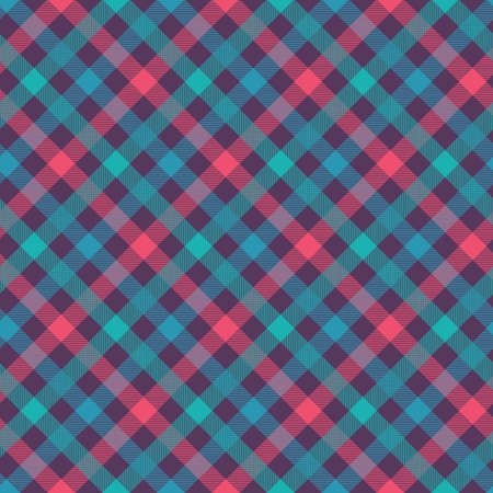 T-shirt color seamless vector pattern. Flannel fabric texture. Checkered textile background