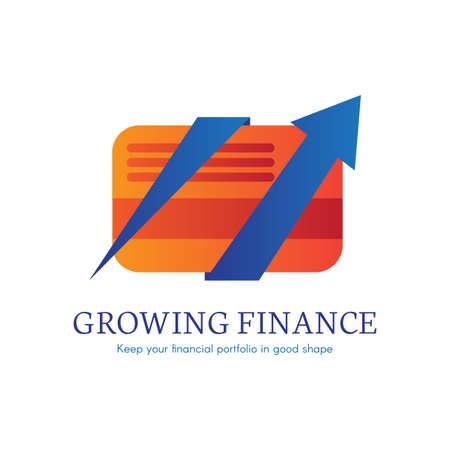Digital finance flat gradient icon. E-payment, money transaction logo. Moble banking clipart