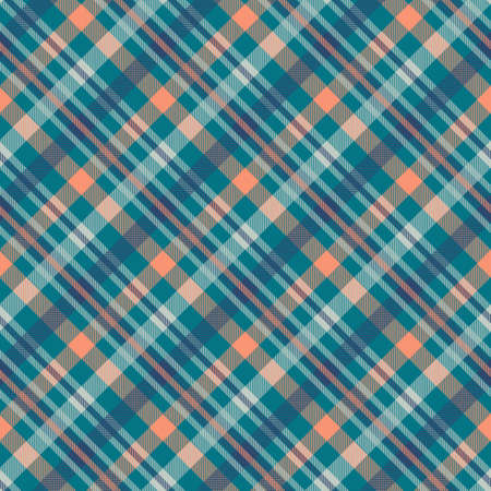 Tartan multicolor seamless vector pattern. Flannel fabric texture. Checkered textile background