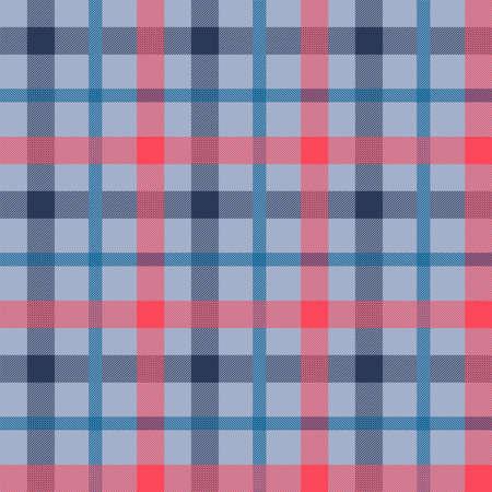Modèle vectoriel continu couleur matière Tattersall. Texture de tissu de flanelle. Fond quadrillé