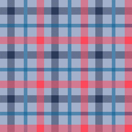 Tattersall material color seamless vector pattern. Flannel fabric texture. Checkered background