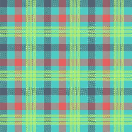 Tartan multicolor seamless vector pattern Stock Illustratie