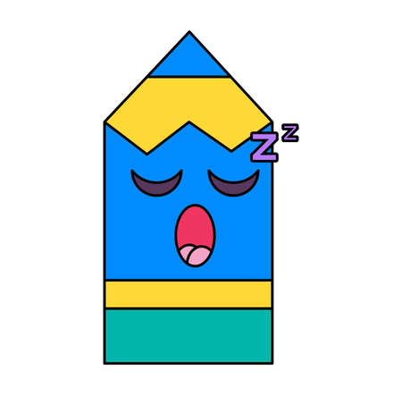 Sleeping pencil emoticon Illustration