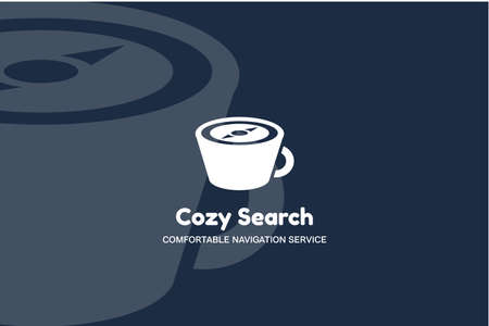 Cup with Compass Cozy Search Multimedia Style