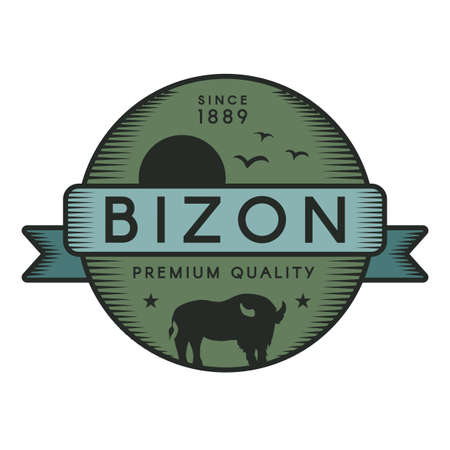 Bizon vector logo template